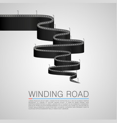 Winding road to the top vector