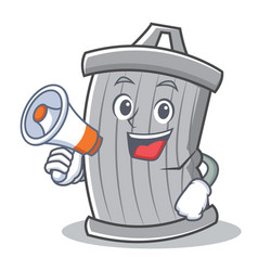 with megaphone trash character cartoon style vector image