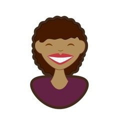 Woman smile character icon vector