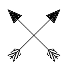 arrows drawing isolated icon vector image