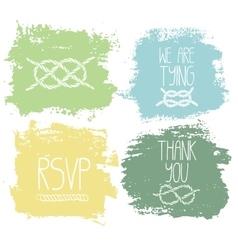 Set of 4 decorative wedding and romantic elements vector image
