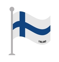 Finland patriotic flag isolated icon vector