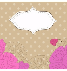 etro background with poppies 2 vector image
