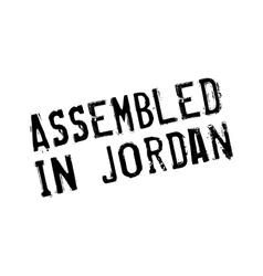 Assembled in jordan rubber stamp vector
