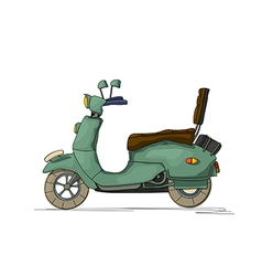 Cartoon scooter vector