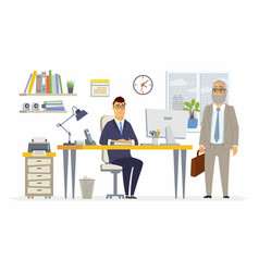 Office scene - modern cartoon business vector
