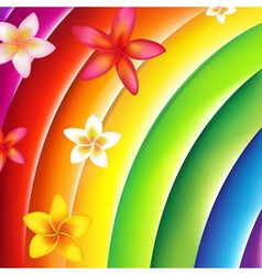 Fantastic Colorful Background With Flowers vector image