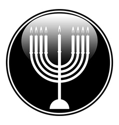 Chanukah symbol button vector