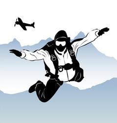 paragliding vector image