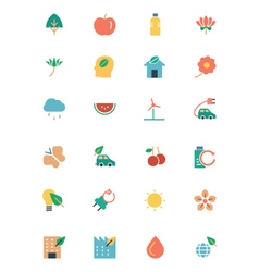Nature and ecology colored icons 1 vector