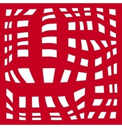 Grid abstract background red and white zebra vector