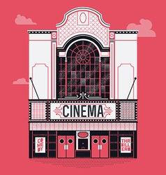 Movie theatre icon vector