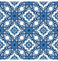Abstract seamless ornamental pattern vector