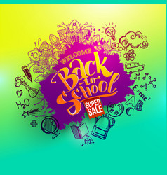 back to school sale splash vector image