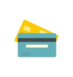 Bank credit card icon flat style vector