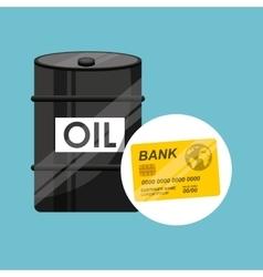 Barrel oil concept credit card bank vector