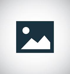 blank photo icon vector image vector image