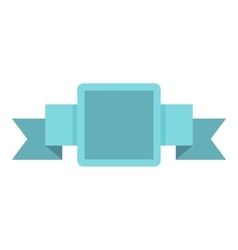Blue label icon flat style vector