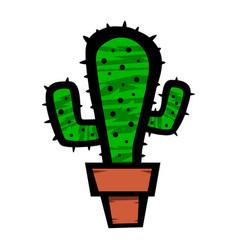 cactus plant cartoon vector image