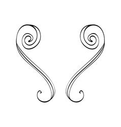 Decorative swirl line vector