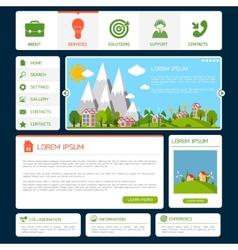 Eco website template vector image vector image