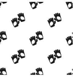 Gym gloves icon in black style isolated on white vector