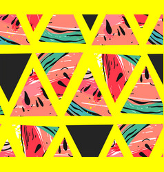 Hand drawn abstract collage seamless vector