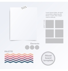 mood board template vector image