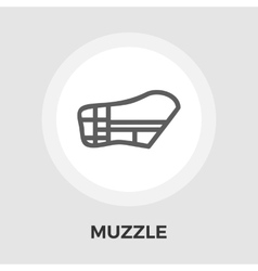 Muzzle flat icon vector image