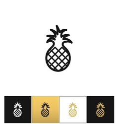 Pineapple sweet exotic dessert icon vector