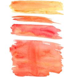 Red orange paint strokes vector