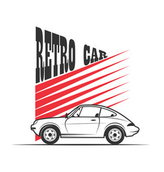 Retro car - vector