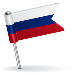 Russian pin icon flag vector
