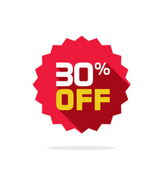 sale tag badge template 30 percent off vector image vector image