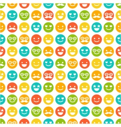 seamless pattern with color smileys vector image