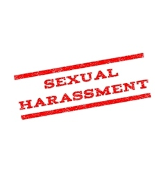 Sexual harassment watermark stamp vector