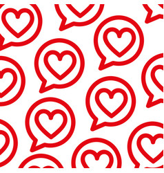 speech bubbles with love heart celebration vector image