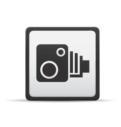 speed camera icon vector image