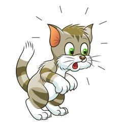 Surprised cat vector