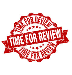 time for review stamp sign seal vector image