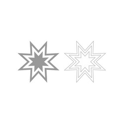 Trendy retro star the grey set icon vector