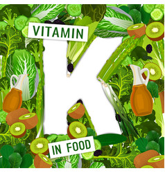 vitamin k background vector image vector image