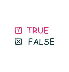 True false icon vector