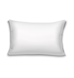 Realistic white rectangular pillow vector
