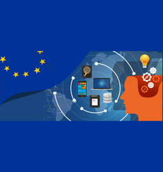 europe it information technology digital vector image
