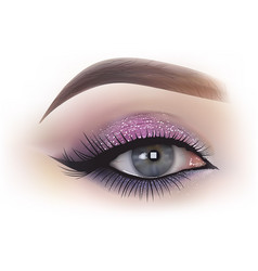 Fashion woman eye makeup vector