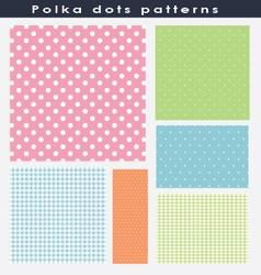 Beautiful polka dots patterns vector