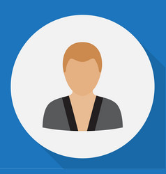 of job symbol on karate man vector image