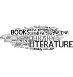 Literature word cloud concept vector
