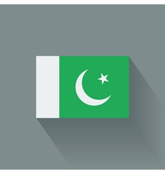 Flat flag of pakistan vector